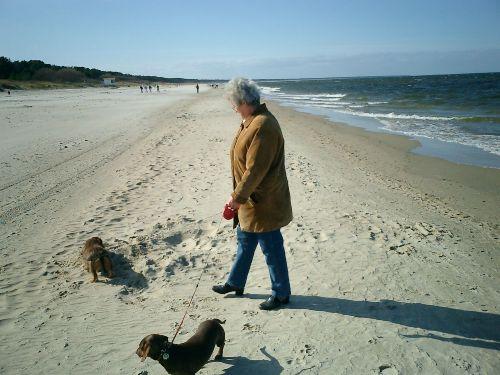 Der Zinnowitzer Ostseestrand im Oktober