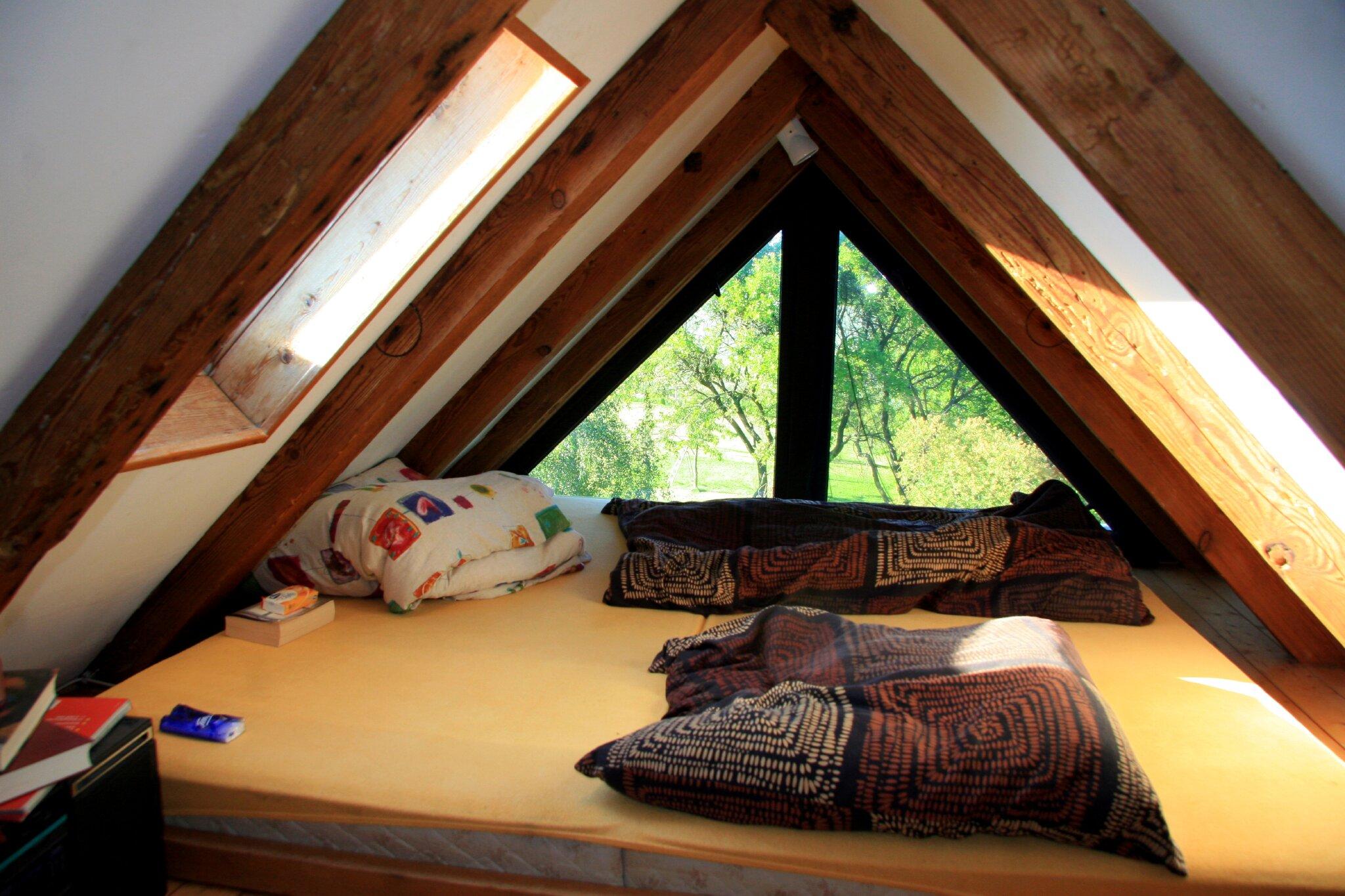 Schlafraum im Dachzelt