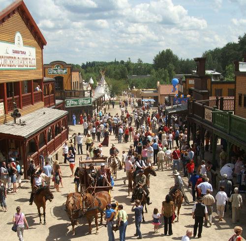 Main Street in der Westernstadt Eldorado