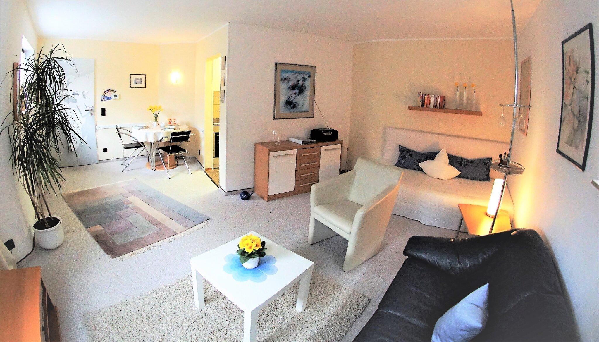 Wohnzimmer Sitzgelegenheiten und 3. Bett