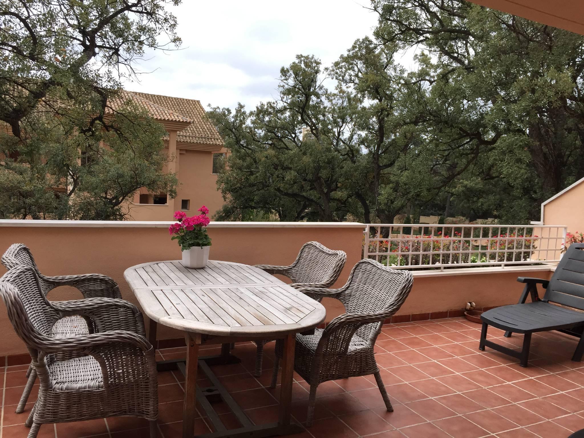 Blick von der 30 qm Terrasse