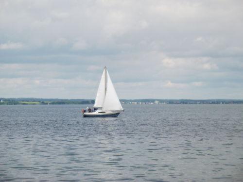 Blick �ber die Ostsee bis zur d�n. K�ste