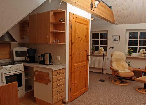 Küche - Eingangstür - Liegesessel