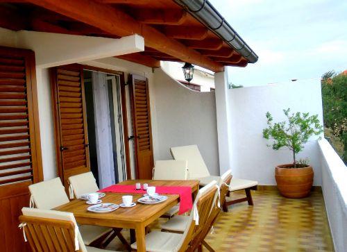 Apart Hanni, die Terrasse