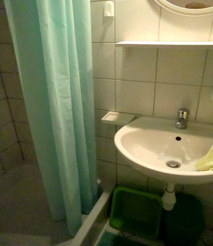Apart Hanni: Gruene Dusche-WC