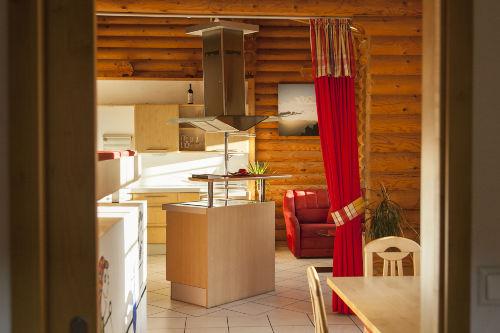 Whg Luxus, Wohnraum und Küche