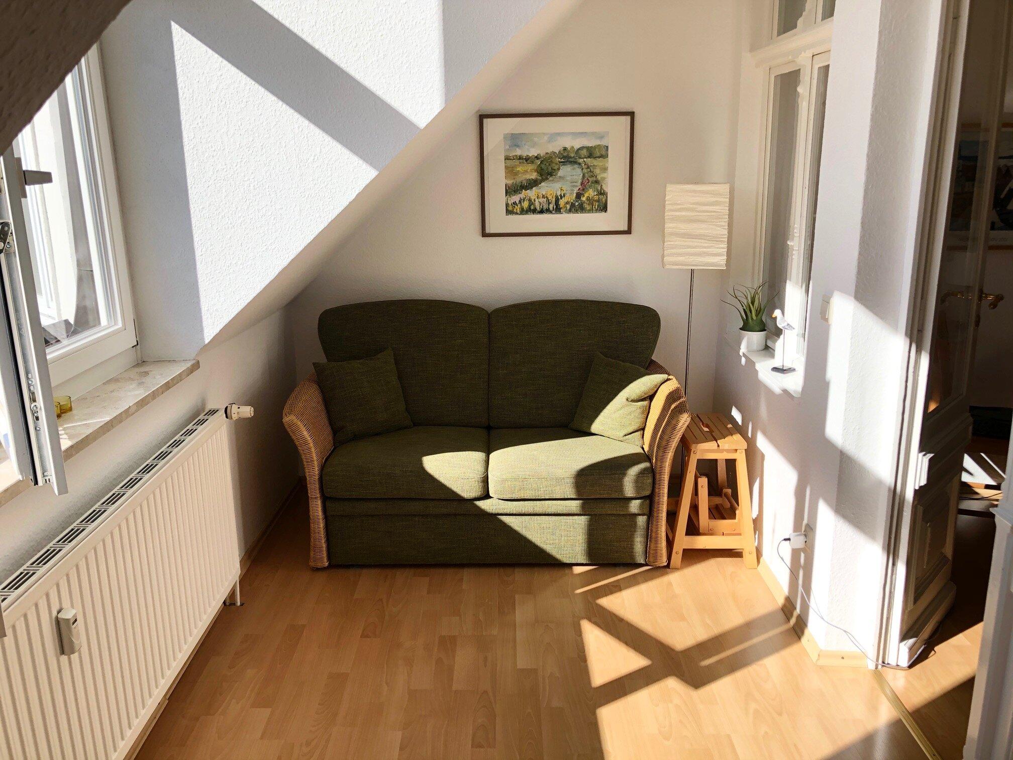 gem. Sofa im Verandazimmer