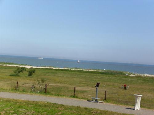 Blick auf den Strand von Schillig