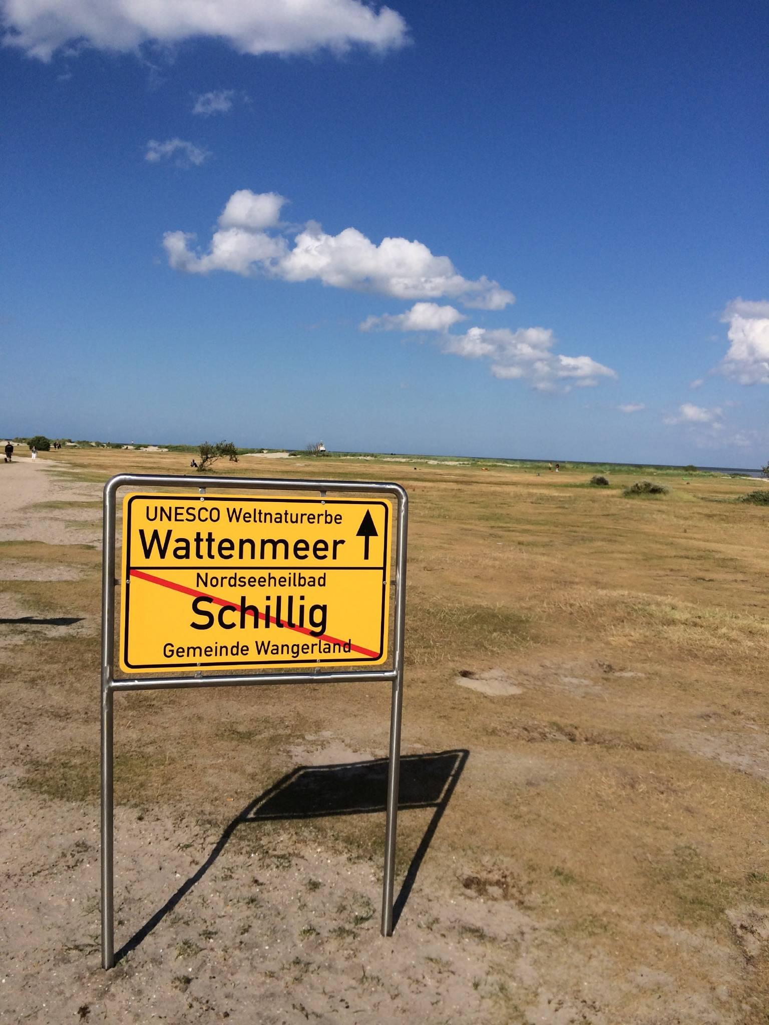 kilometerlanger Sandstrand in Schillig