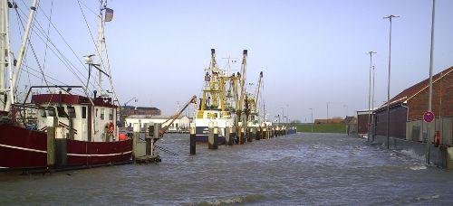 Hafen Norddeich Sturmflut 2008