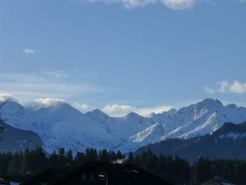 Blick vom Balkon, Oberstdorfer Berge