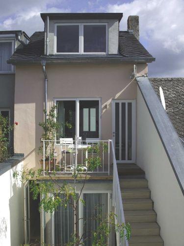 Balkon und Innenhof