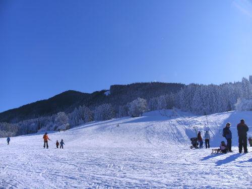 Skilift nur 2 Minuten entfernt