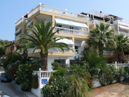 Die Ansicht der Villa Anesa