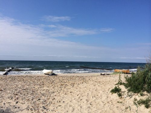 Der Strandaufgang in unmittelbarer Nähe