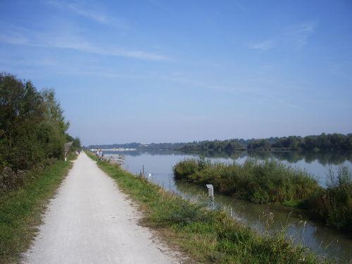 Radweg am Innstausee