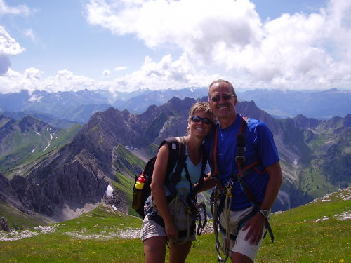 Grüß Gott vom Hindelanger Klettersteig !