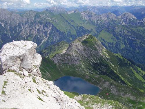 Alphornbläser am Oberjoch