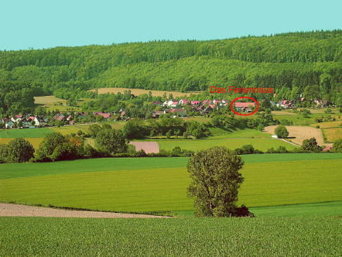 Das idyllisch gelegene Dorf Eschenbruch