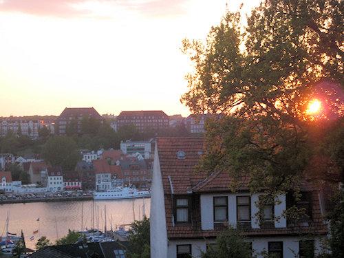 Untergehende Abendsonne