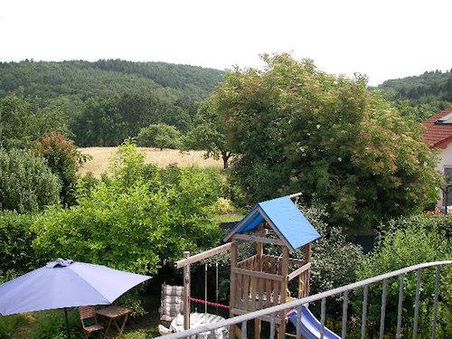 Blick vom Ostbalkon in den Westerwald