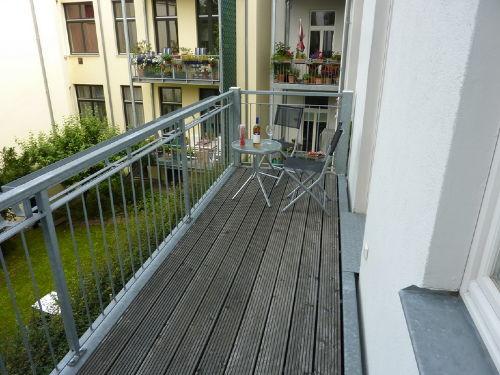 Auf dem Balkon...