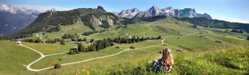 Sommerpanorama Loferer Alm