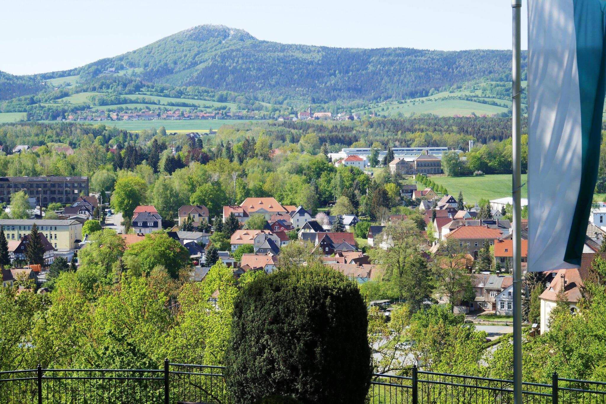 Blick vom Hutberg hinter'm Haus