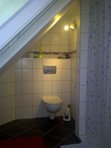 Das WC in unserem Bad