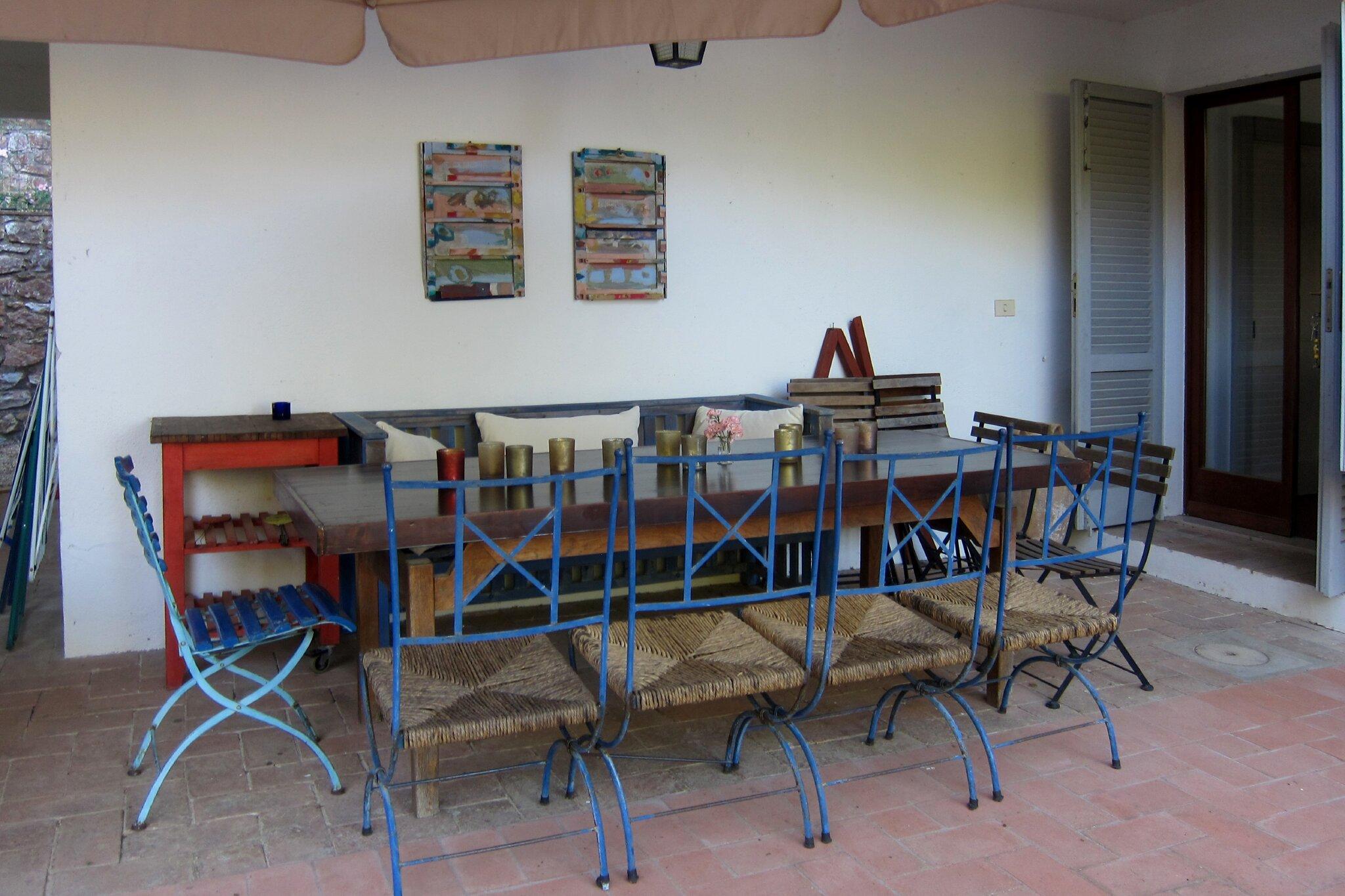 Blick von der Terrasse im EG