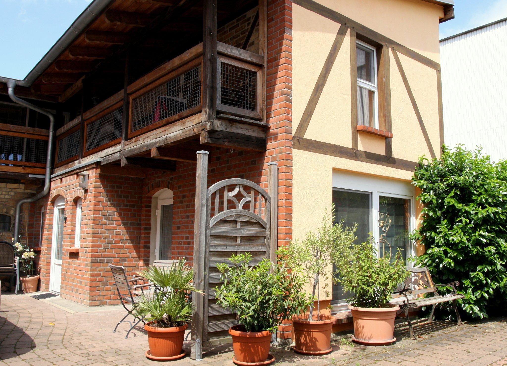 TOSKANA - Blick zum Innenhof - Veranda