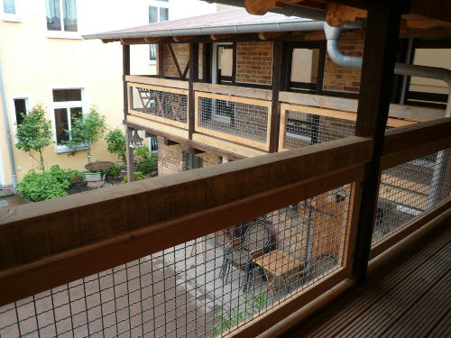 TOSKANA Veranda-Laubengang zum Innenhof