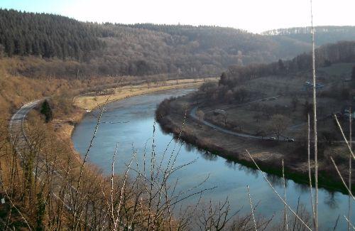 Der Neckar vor ihrer Haustür