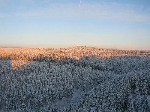 Blick a.d. winterl. Hochharz v. Balkon
