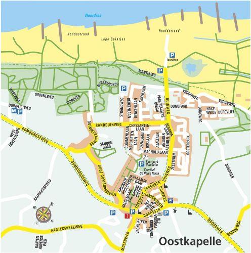Karte von Oostkapelle