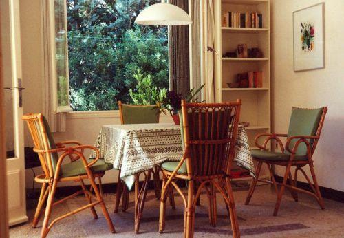 Terrasse am späten Nachmittag
