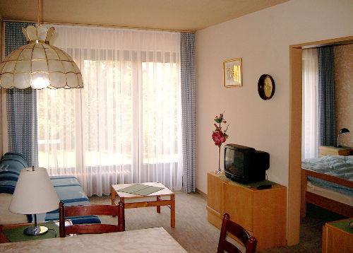 Wohnzimmer mit Eingang Schlafzimmer