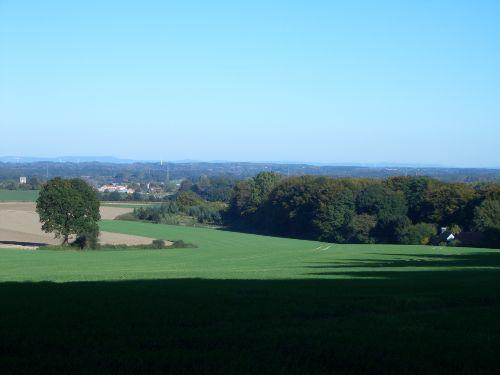 Blick aus den Baumbergen auf Havixbeck