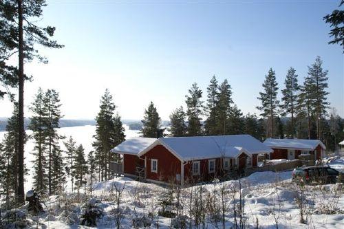 Ferienhaus-Silltal, Schweden in winter