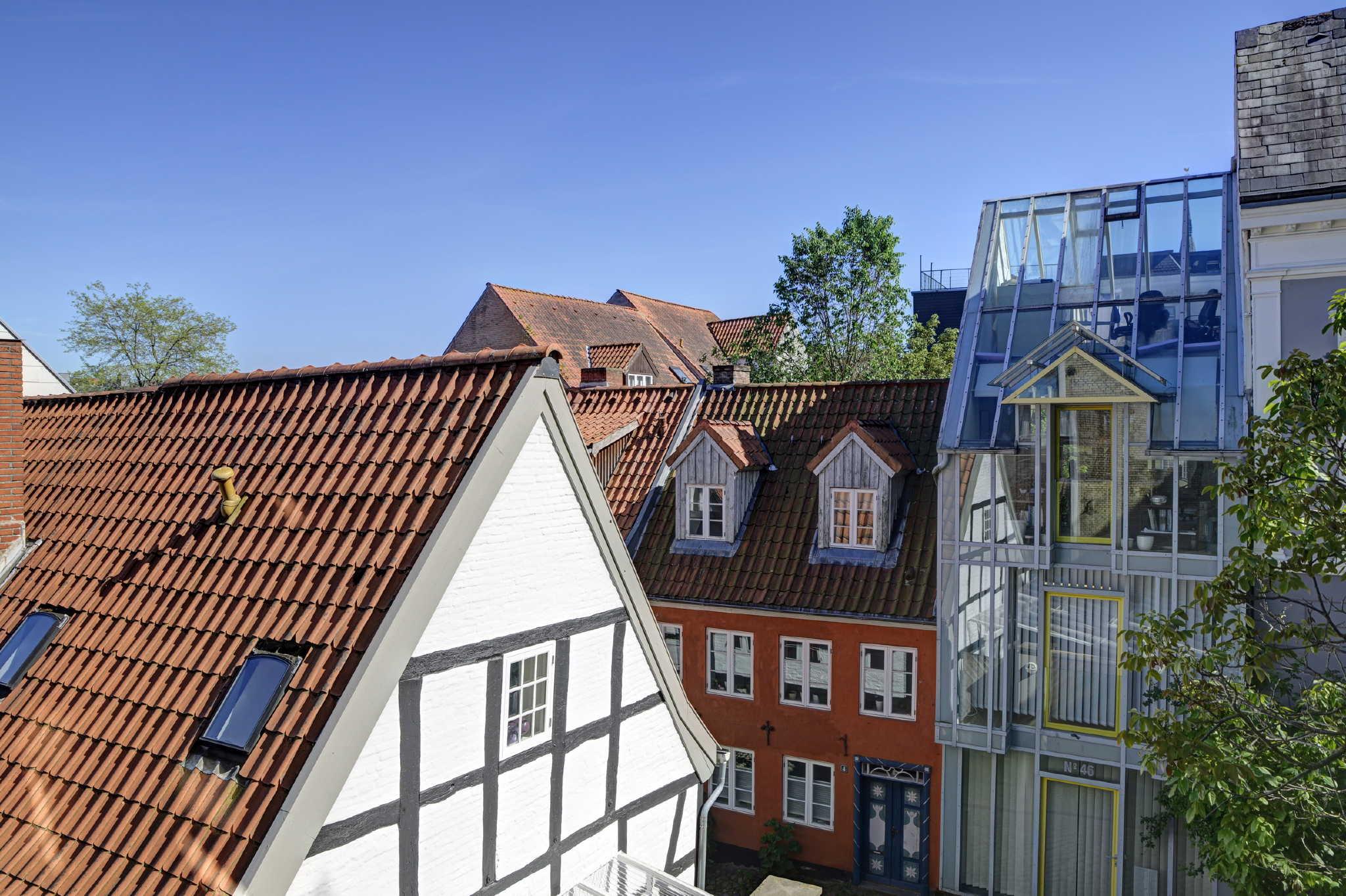 Blick aus der Wohnung auf die Altstadt