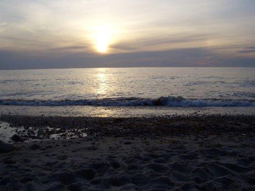 Sonnenuntergang Strand von Meschendorf