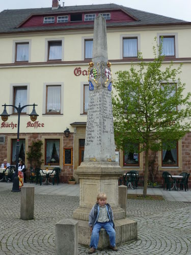 Postmeilens�ule-Markt Bad Gottleuba