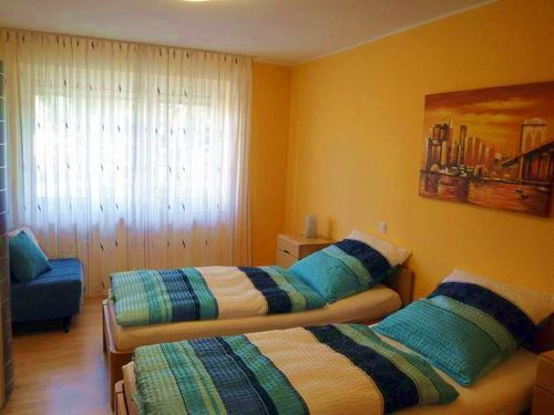 Einzelbetten im Schlafzimmer