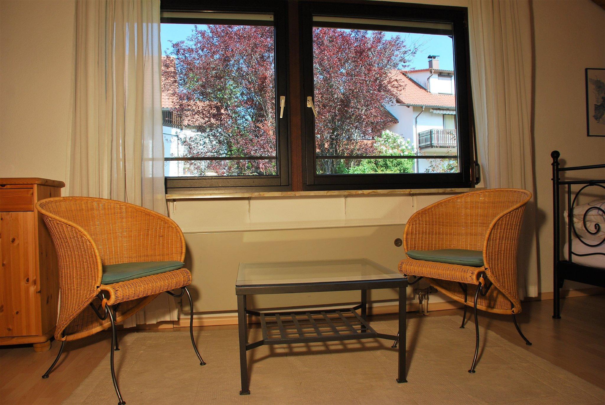 Blick vom Balkon zum Sternberg