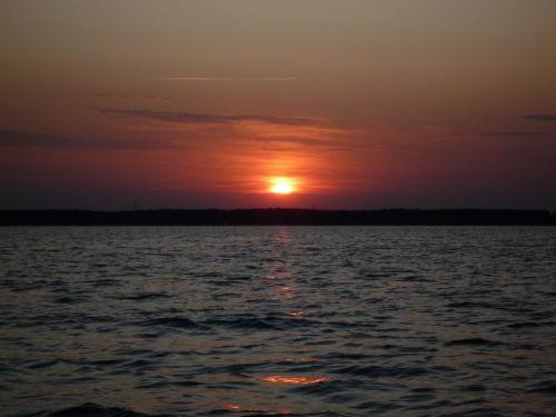 Sonnenuntergang am Jabeler See
