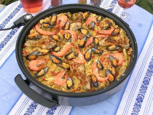 'heimische Küche'; Crevetten