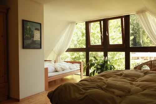 Schlafzimmer mit 1 DB 2 x 2 m, 2 EB 1 x 2m