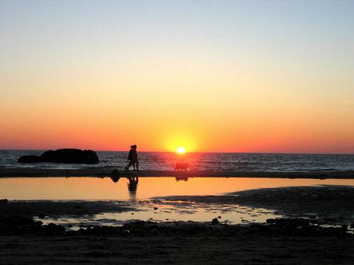 Abendstimmung am Strand von Amélie