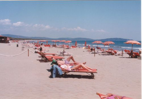 Meeresstrand bei ORBETELLO (FENIGLIA)