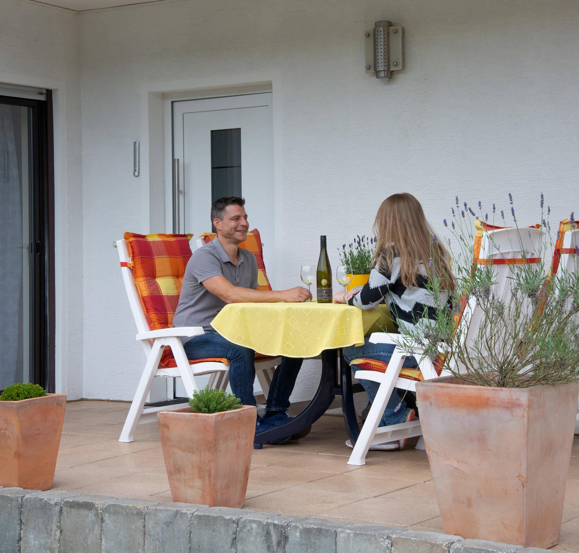 Zugang Ferienwohnung und Terrasse